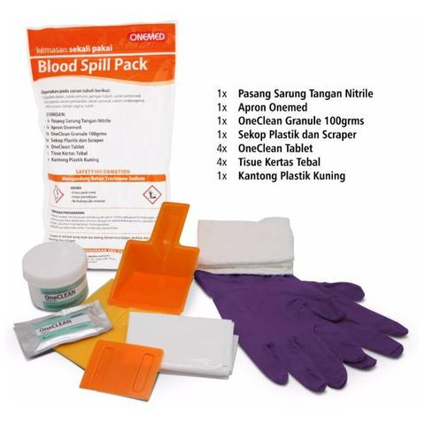 Blood spill pack, blood spill kit