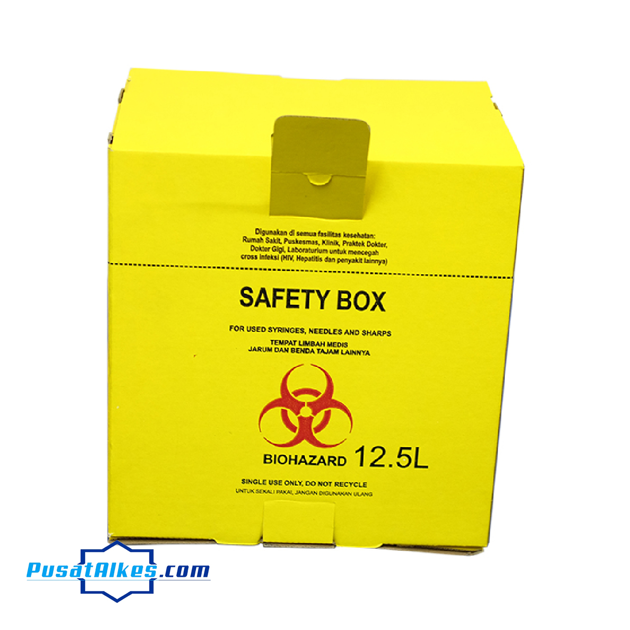safety box, tempat sampah medis, safety box 12,5 L